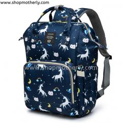 Baby Diaper Bag For Traveling Unicorn Blue