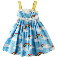 Cotton Frock In Blue Color Available