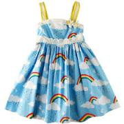 Cotton Frock in blue color