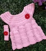 Crochet frock in different colors