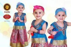 Exclusive Pattu Pavadai for Babies