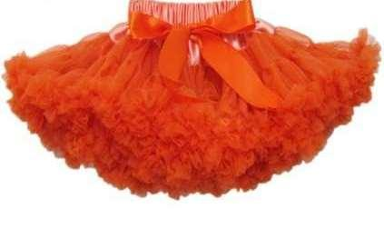 Orange Coloured Skirt for Baby Girls