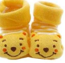 Cute Non Slip Baby Socks In Yellow Colour