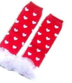 Red Leg Warmers for Baby Girls In Red Colour