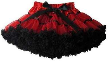 Gorgeous Skirt Available In Black And Red Colour Combination