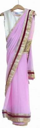 Designer Dress For Baby Girl In Saree Pattern