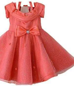 Peach Coloured Beautiful Fancy Frock Available