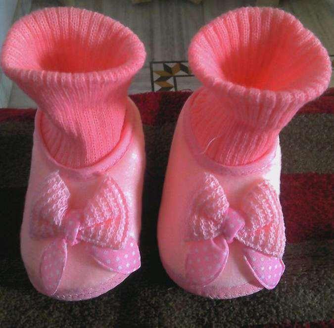 Baby Pink Coloured Socks For Little Girl