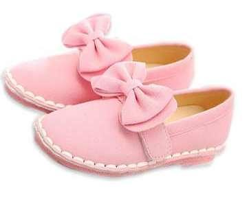 Party Wear Shoes for Baby Girls In Light Pink Colour