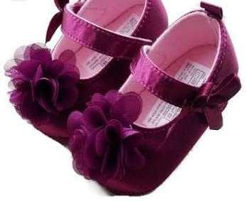 Stylish Purple Coloured Shoes Cum Sandle For Baby Girl