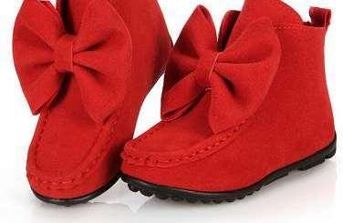 Stylish Footwear For Baby Girl In Red Colour