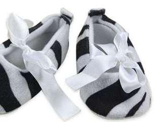 Cute Black And White Coloured Shoes For Infants