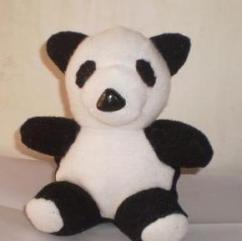 Soft Toys In Black And White Color