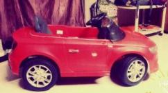 Used Kids Car In Red Color