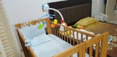 Used Wooden Cot Available