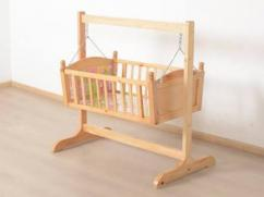 Wooden Cradle For Little Baby Available