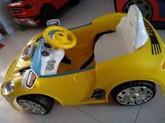 Car Toy In Yellow Color