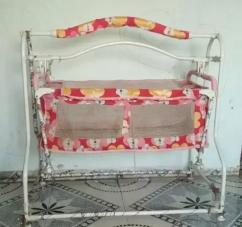 Pink & Red color Baby cradle for sale