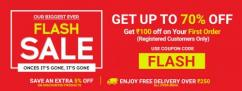 Flat Rs.100 Off on Your First Order  Techhark Flash Sale