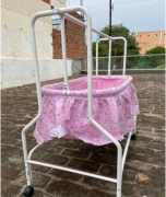 Pink Colour Baby Cradle