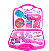 Fashion Girl Beauty Set Makeup Toy with Mirror Hairdryer Styling Acc