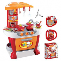 Techhark Little Chef Kids Kitchen Play Set with Light Sound