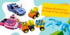 Up to 70 percent  Extra 5 percent Off on Kids Toys Offer