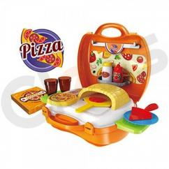 Pizza Play Set with Brick Oven Pretend Play and Accessories