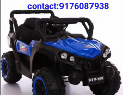 Kids driving battery updated rechargeable car