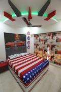 JUST KIDZ - Boys Bunk Bed Car Bed Wardrobe Study Table interior designer Mumbai
