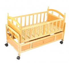 Wooden baby cradle cum rocker