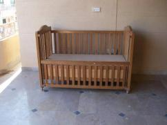 Solid Pine Wood Baby Cot Available
