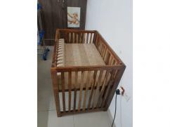 Pure Sheesham Wood Baby Cot
