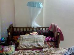 Babys Brown Wooden Crib