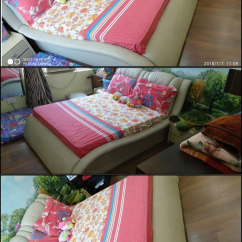 Box bed for kids with side table