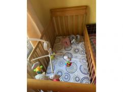 Baby cot wooden US manufactured