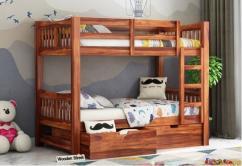 Wooden bunker beds for kids