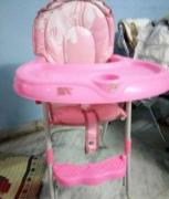 Pink Coloured High Chair For Lill Baby