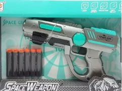SBV Toys NERF Style Space Blaster Gun. 6 Foam Bullets Free.
