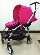 Branded Stroller In Black And Red Color