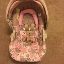 Branded Car Seat In Light Pink Color