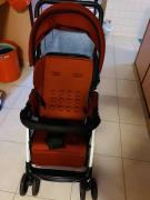 Red coloured stroller available