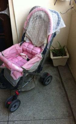 Unused Baby Stroller/Pram pink shading