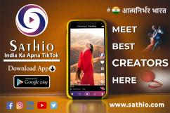 Sathio - Short Video Platform  India Ka TikTok