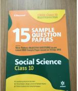 Arihant CBSE 15 Social Science Sample Question Papers (2020)