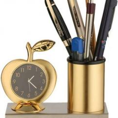 Pen Stand With Alarm Clock Available