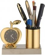 Pen holder with alarm clock
