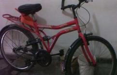 Used Hercules Bicycle In Red Color