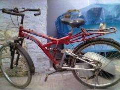 Red Coloured Bicycle in Good Condition