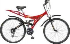 Ranger cycle in red color